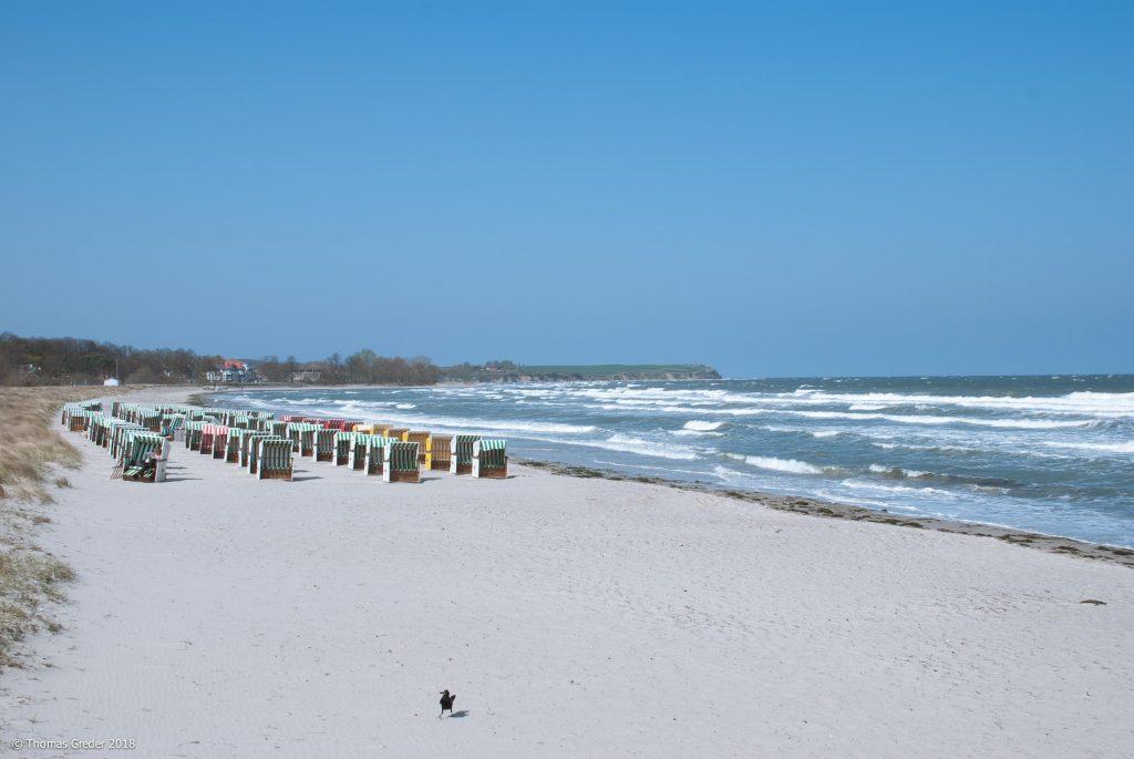 Strandkörbe am Strand in Boltenhagen