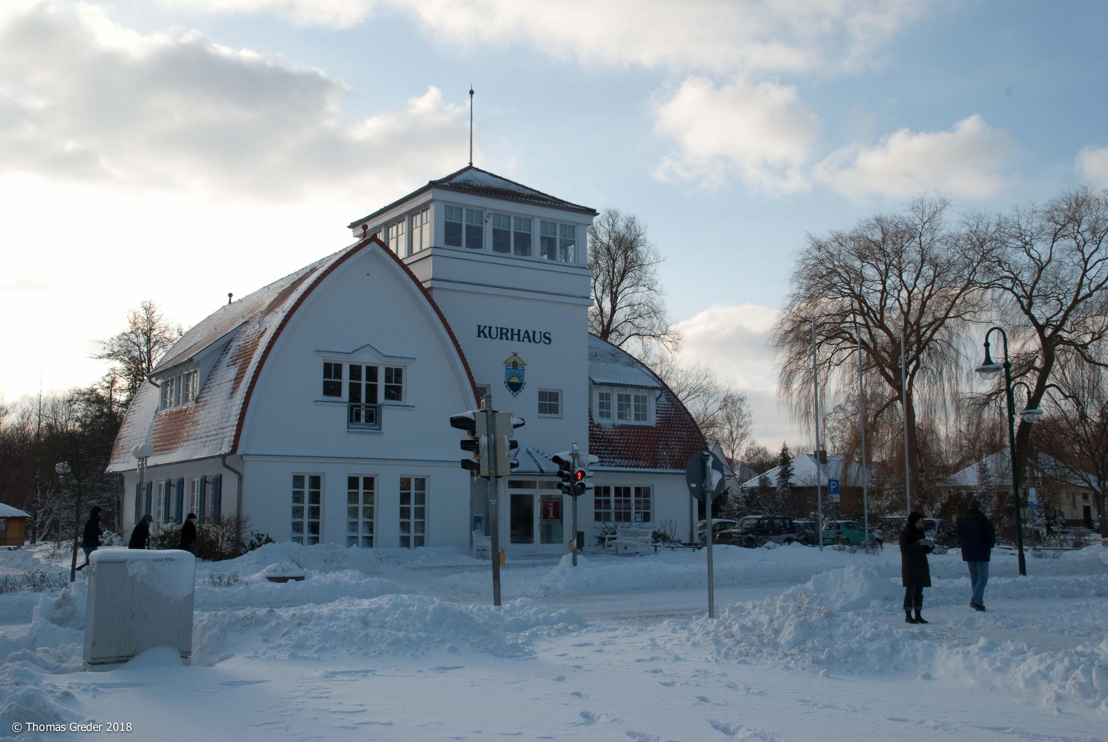 Kurhaus Boltenhagen im Schnee