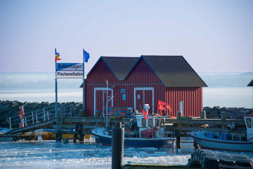 Fischereihafen im Winter