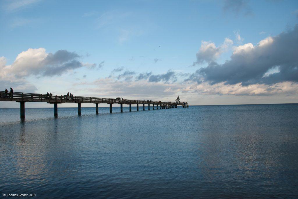 Seebrücke in den Abendstunden
